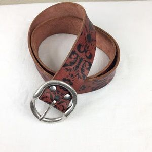 Lucky Brand | Bridle Leather Damask Belt | 34